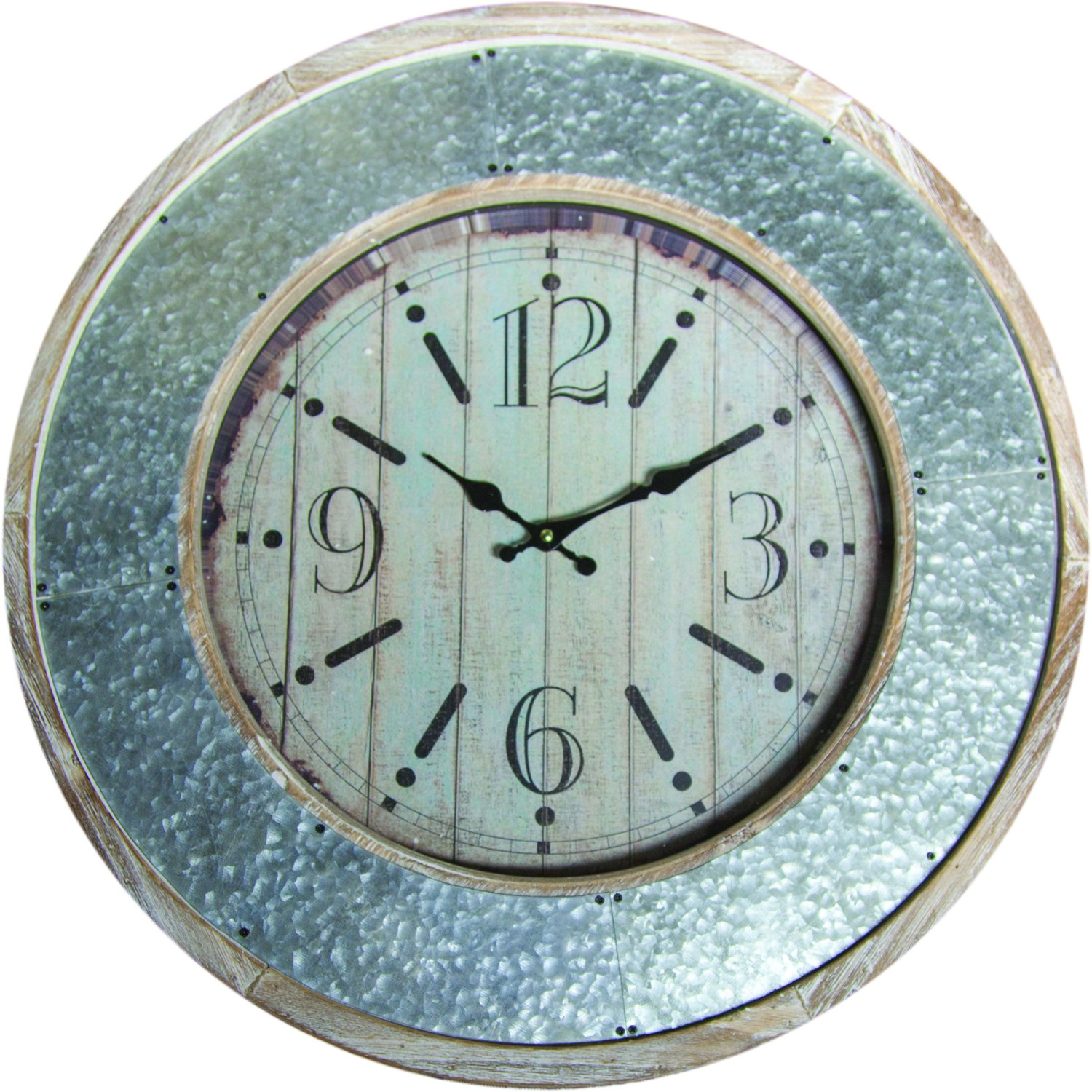 Memo Metal Border Wall Clock 23.5X23.5X2.75
