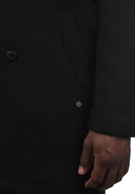 Solid Harvey Cappotto Classico Di Lana Giacca Lunga Parka Invernale Da Uomo Abbottonatura
