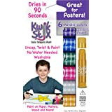 The Pencil Grip Kwik Stix METALIX Solid Tempera Paint, Super Quick Drying, 6 Pack (TPG-613),Gold,Silver,Pink,Green,Blue,Purpl