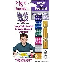The Pencil Grip Kwik Stix METALIX Solid Tempera Paint, Super Quick Drying, 6 Pack (TPG-613)