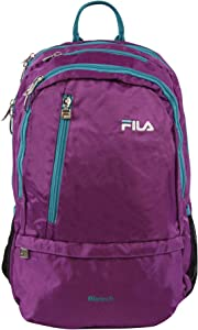 Fila Women's Duel Tablet and Laptop Backpack, Purple/Teal, One Size
