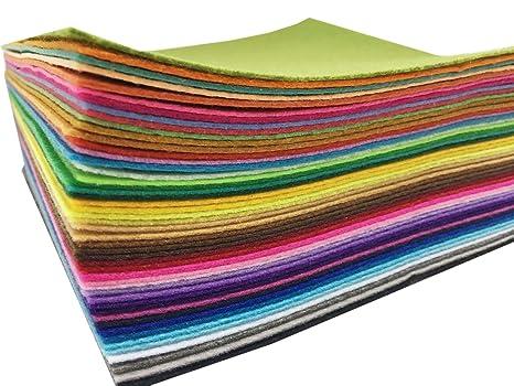 Fogli Feltro Colorato 48 pz Fogli in Feltro e Pannolenci Feltro Acrilico di  Fogli DIY Tessuto 7078e24e1378