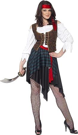 Smiffys Smiffys-20470M Disfraz de Mujer Pirata, Camisa con ...