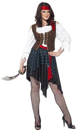 SmiffyS 20470S Disfraz De Mujer Pirata Camisa Con Chaleco Unido ...