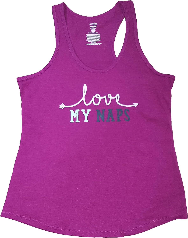 Love My Naps Magenta Jewel Knit Sleep Tank Top