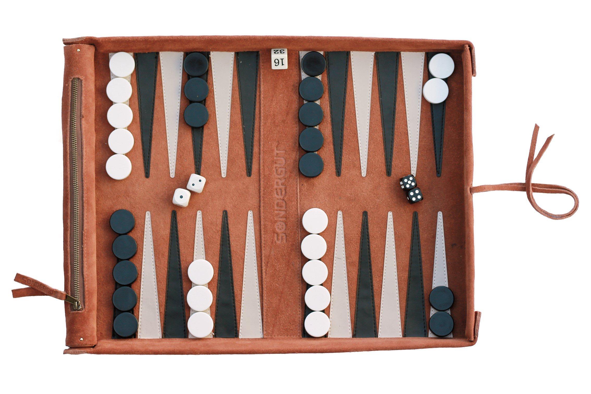 Sondergut Deluxe Roll-up Backgammon Game