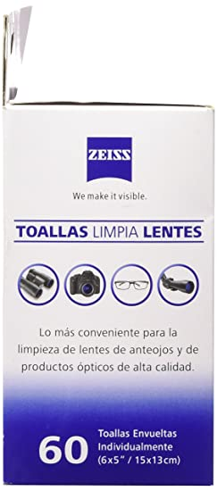 Amazon.com: Zeiss Pre-Moistened Lens Cleaning Wipes - Cleans Bacteria, Germs and without Streaks for Eyeglasses and Sunglasses - (720 Count): Health ...