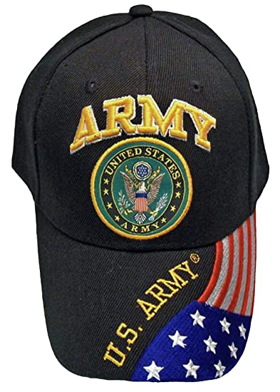 Army Black Baseball Cap US Veteran V American Flag USA Hat United States ( Army Black Cap with American Flag) at Amazon Men s Clothing store  b59796dd37f