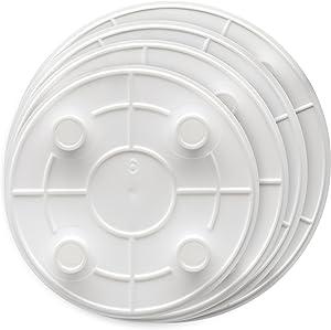 Ateco 33004 Set of 4: 6, 8, 10, 12-Inch Lady Mary Plastic Cake Separator Plates, pates, White