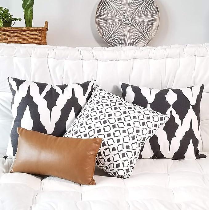 18x18/'/' Ethnic Style Pattern Cushion Cover Linen Cotton Boho Throw Pillow Case