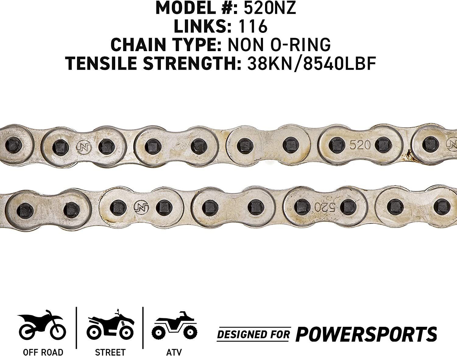 NICHE Drive Sprocket Chain Combo for KTM 250 EXC SX 500 SX 450 XC-W Front 14 Rear 50 Tooth 520V O-Ring 116 Links
