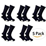 Cushioned 3/4 Crew Compression Basketball Socks (5-Pack)