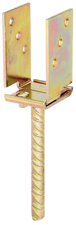 breitenverstellbar galvanisch gelb verzinkt Breite: 71-131 mm zum Einbetonieren GAH-Alberts 214494 U-Pfostentr/äger Betonanker: 200 mm