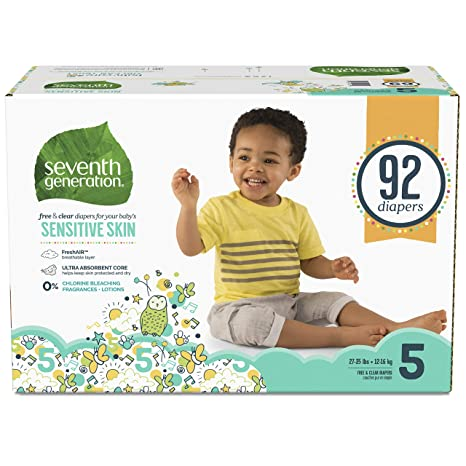 Seventh Generation Baby Diapers Free /& Clear for Sensitive Skin with Animal Pri