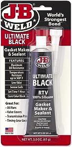 J-B Weld 32329 Ultimate Black RTV Silicone Gasket Maker and Sealant - 3 oz. - Black