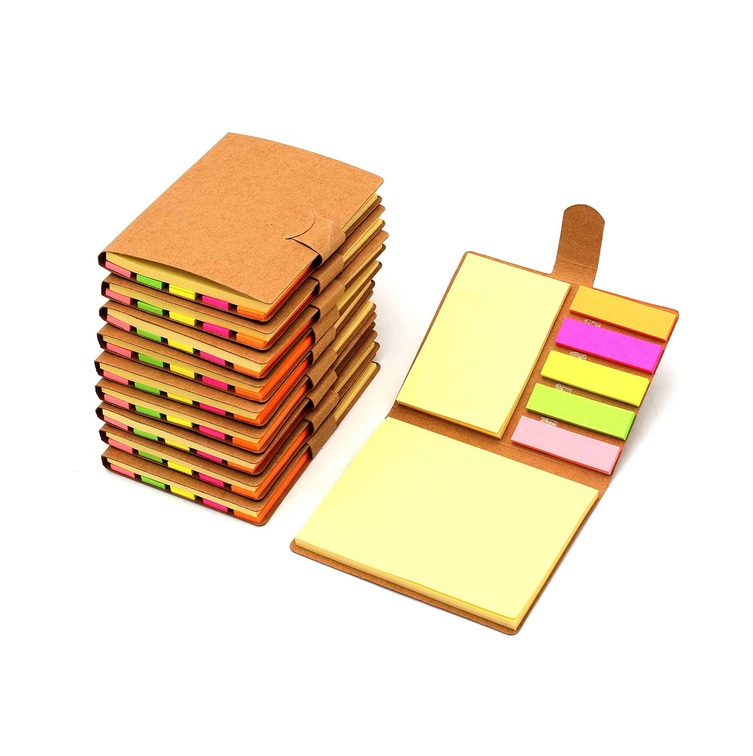 Tueascallk 10 Packs Combination Sticky Notes, Pop-up Self-Adhesive Notes, 3.2'' x 4.1'', 200 Sheets/Pack