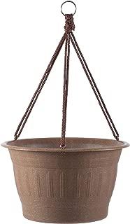"product image for Bloem (CLNHB12-43 Colonnade Wood Resin Hanging Basket Planter 12"" Dark Earth Brown"