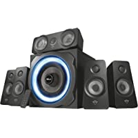 Trust Tytan Gaming GXT 658 Sistema Set di Altoparlanti Surround 5.1, con Subwoofer Illuminato LED Blu, Potenza Totale di 180 Watt, Nero