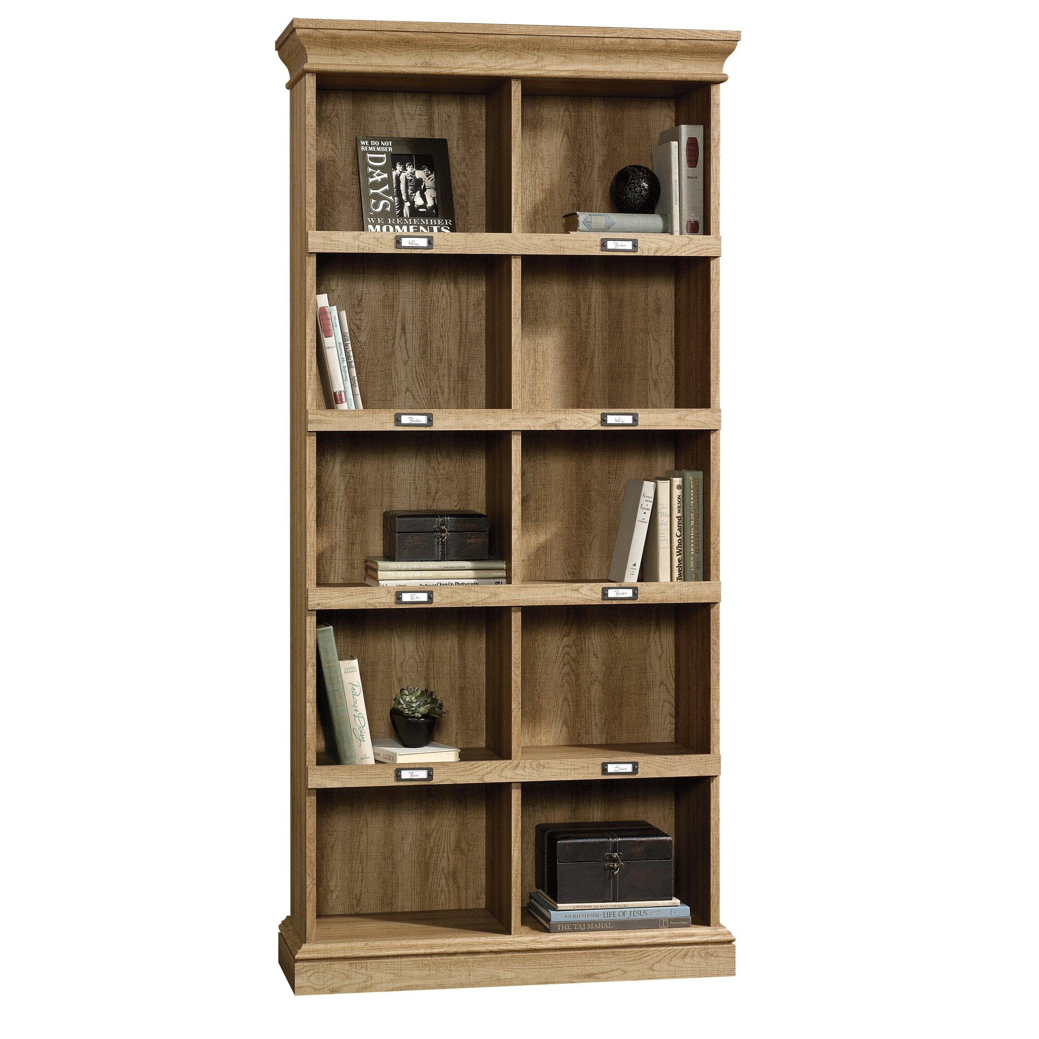 Sauder 414725 Barrister Lane Bookcase, L: 35.55'' x W: 13.50'' x H: 75.04'', Scribed Oak finish by Sauder (Image #2)