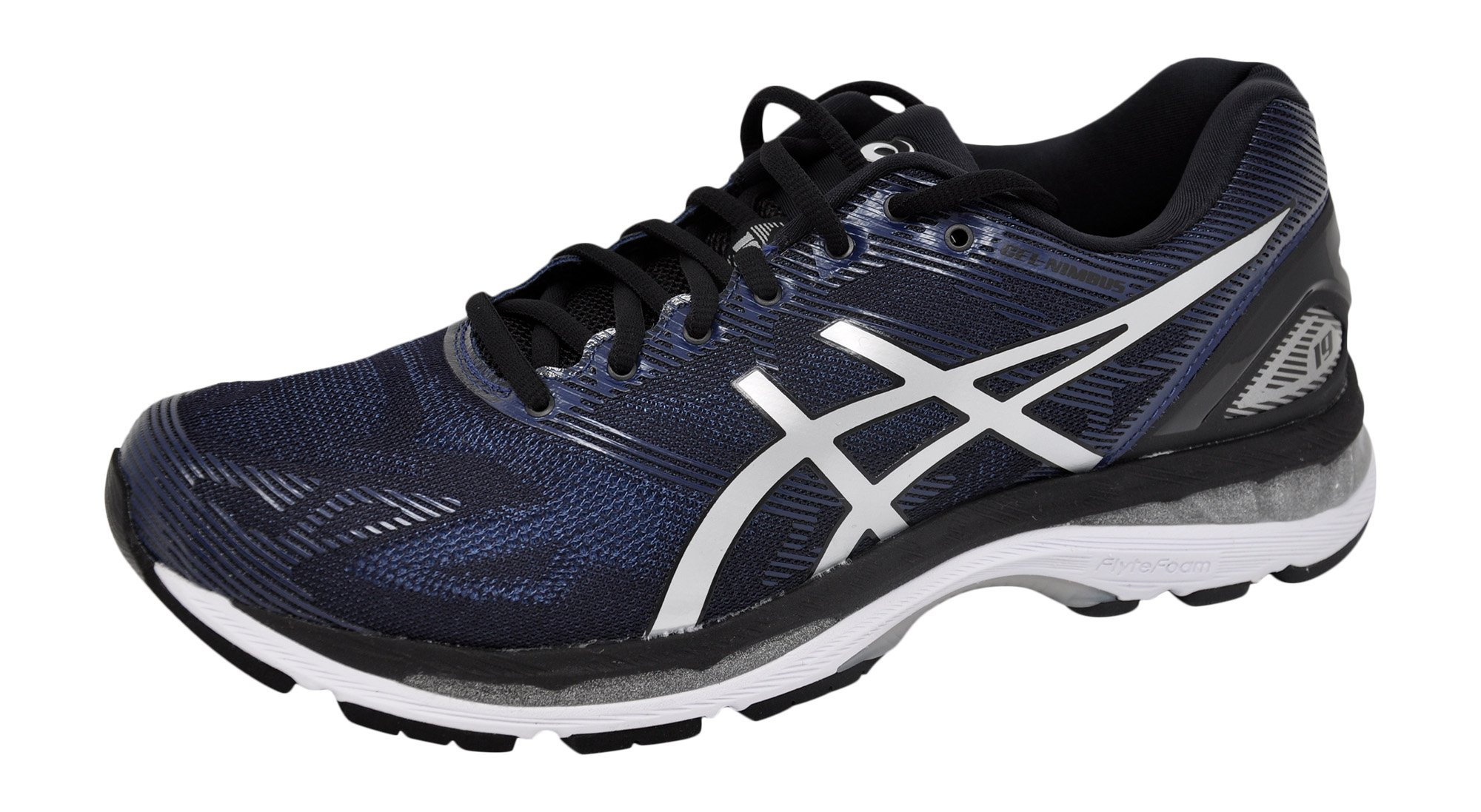 ASICS Men's Gel-Nimbus 19 Running Shoe Peacoat/Silver/Black, 9 D(M) US by ASICS