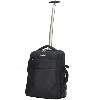 d90b54fe02 3 in 1 Wheeled Cabin Approved Trolley Travel Bag Flight Backpack Hand Luggage  Suitcase Holdall Laptop Bag (Black)  Amazon.co.uk  Luggage