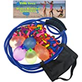 Water Balloon Launcher 500 Yards,The Beast Heavy Duty Balloon Fight Slingshot/Cannon/Catapult, 3 Person Giant Angry Birds Game For Nerf Ball,Splash Ball,T-shirts,Snowball,Potato Pumpkins 500 Balloons