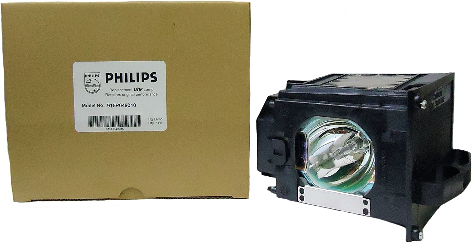 Original Philips Rear Projection Replacement Lamp//Bulb//Housing for Mitsubishi 915P049010 or 915P049A10.