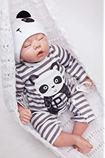 Amazon.com: 22 inch 55 cm Soft Silicone vinyl Reborn Baby Doll ...