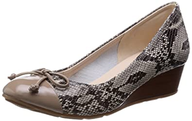 a50aa8779e5d Cole Haan Women s Tali Lace Wedge Roccia Snake Print Cremini Patent Wedge