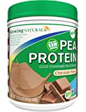 Growing Naturals Pea Protein Powder, Chocolate, 15.8 Ounce