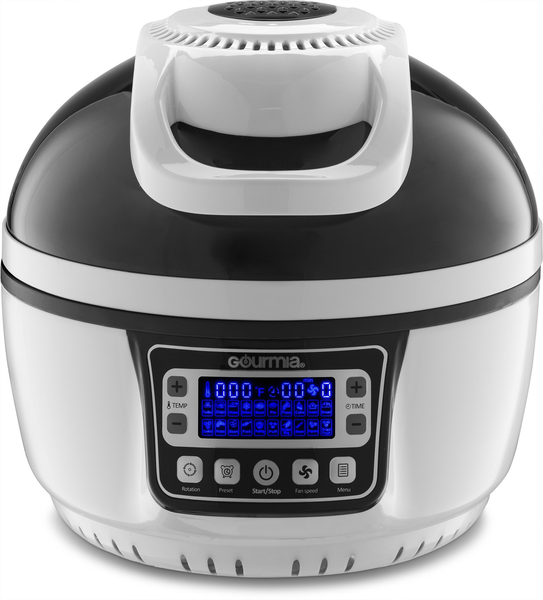 Gourmia GTA2800 WiFi Air Fryer - Multi Function Halogen Powered Rotating Rotisserie Grill & Electric Oven, 20 Cooking Functions, Programmable Timer, Includes 11pc Kit & Free Recipe Book - 110V by Gourmia (Image #7)