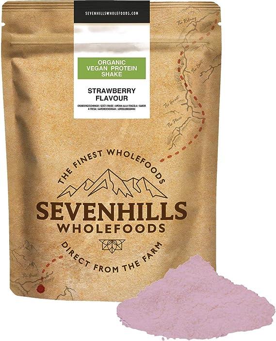 Sevenhills Wholefoods Bio Proteína Vegana Batido - Sabor A Fresa 1kg
