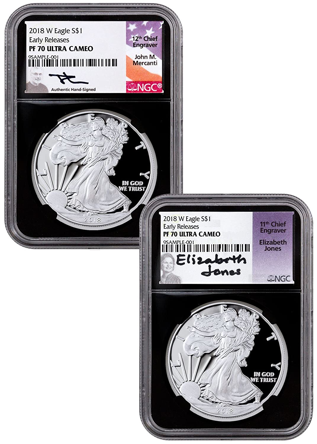 Early Releases Liberty Label 2018 W Silver Eagle Proof NGC PF70 UC