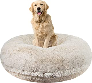product image for Bessie and Barnie Signature Blondie Luxury Shag Extra Plush Faux Fur Bagel Pet/Dog Bed (Multiple Sizes)