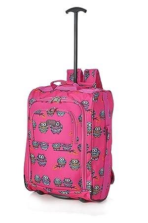4c6d770e4 5 Cities - Equipaje de mano Unisex, rosa (Varios colores) - TBP023-135 OWLS  FUCHSIA: Amazon.es: Equipaje