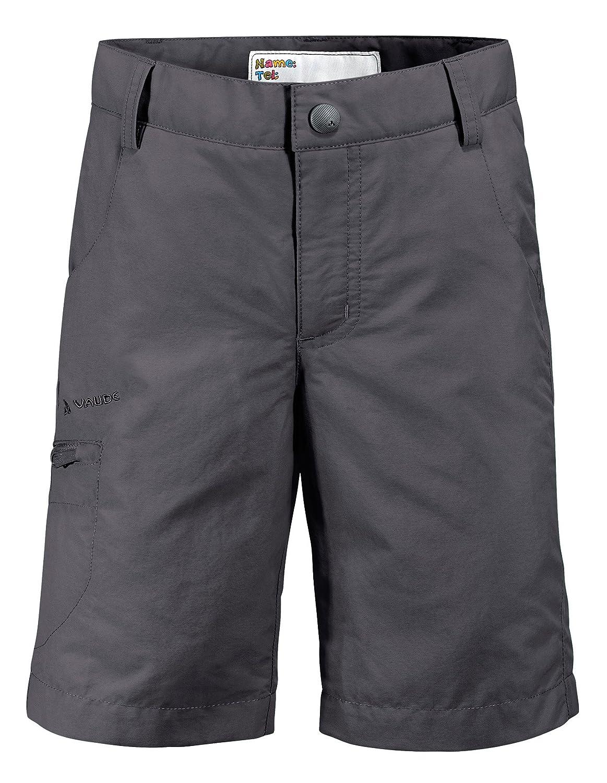 VAUDE Kids Detective Bermuda II - Pantalones cortos para niño, color gris, talla 104 05059