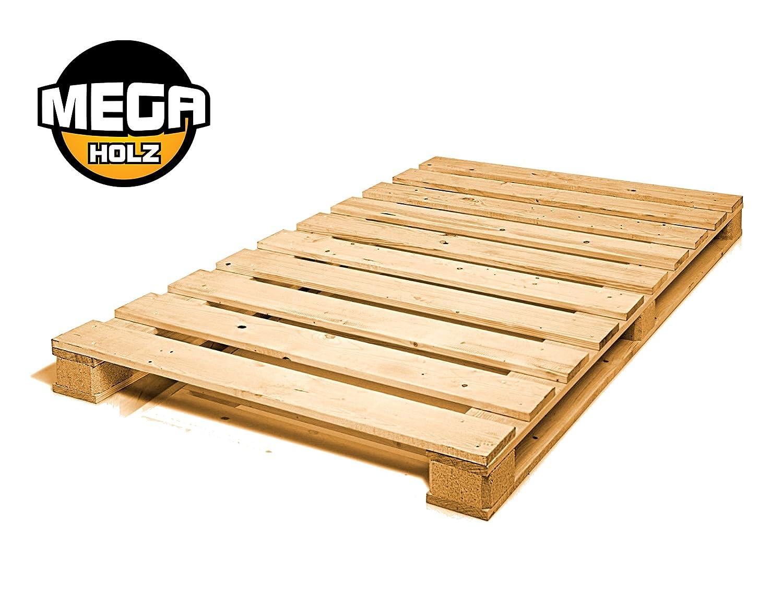 MEGA Palettenbett Bett Holz Massivholzbett 90x200 cm: Amazon.de ...