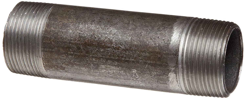 "Anvil 8700145058, Steel Pipe Fitting, Nipple, 2"" NPT Male x 10"" Length, Black Finish"