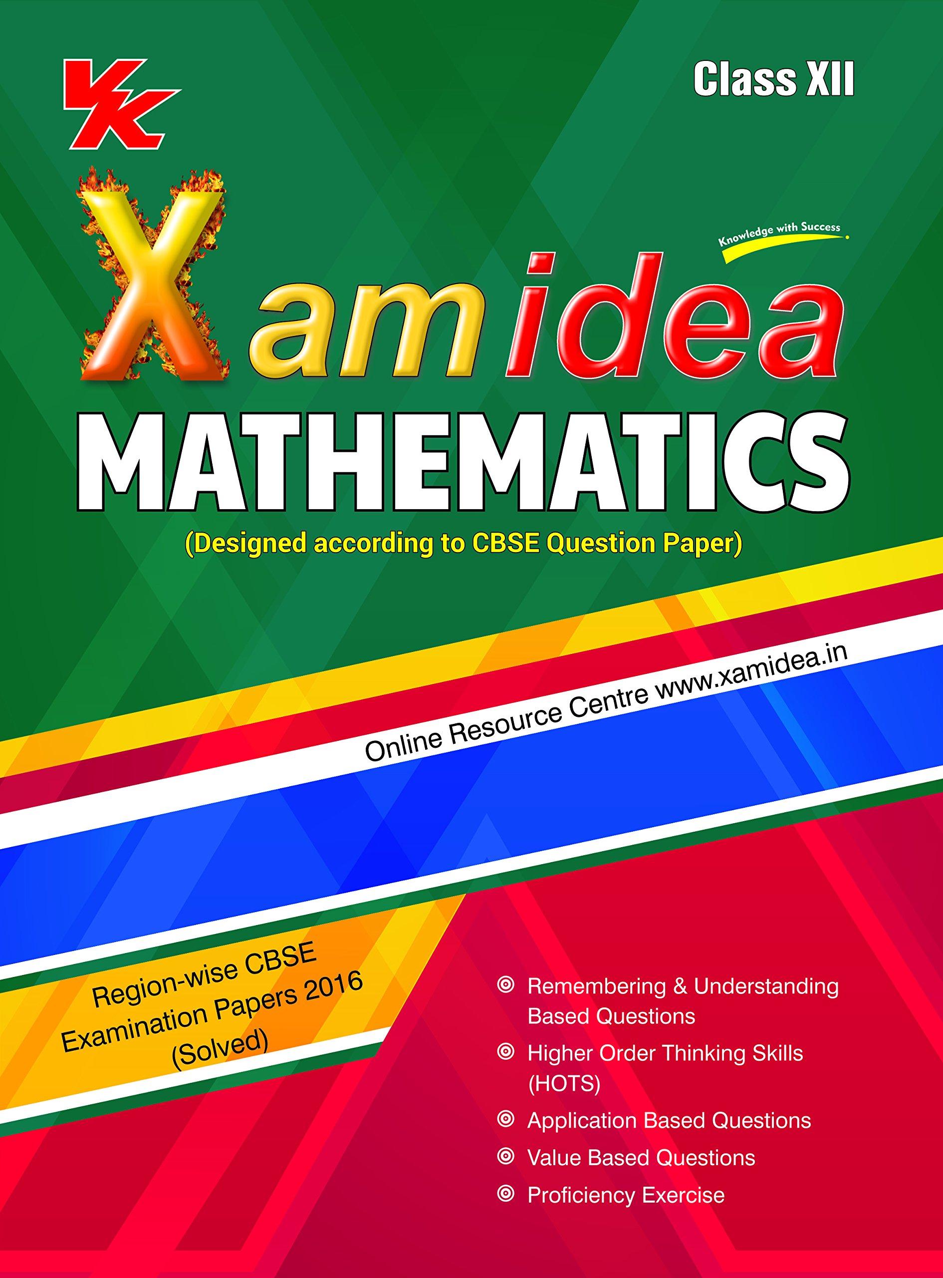 Xam Idea Mathematics Class 12 for 2018 Exam Old Edition: Amazon.in: Xamidea  Series: Books