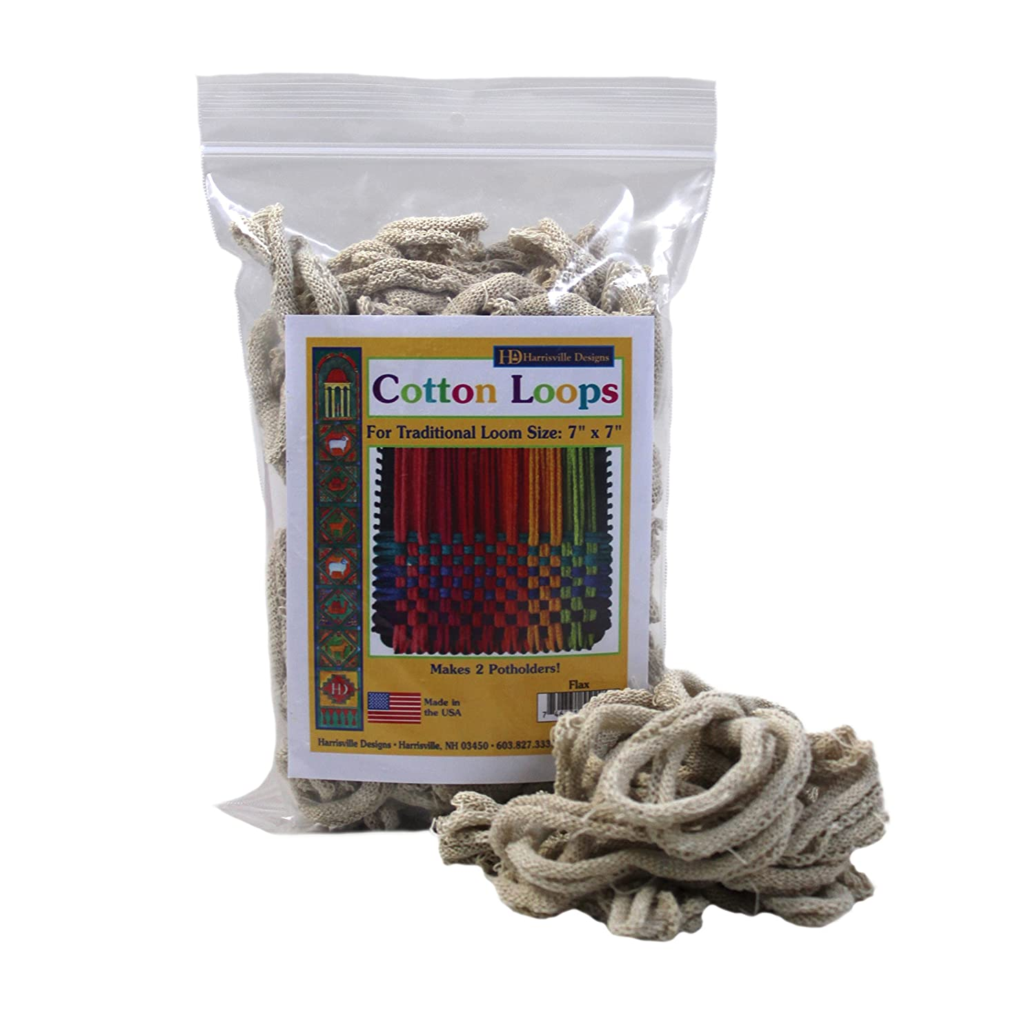 Harrisville Designs Traditional 7  Cotton Loops, Flax