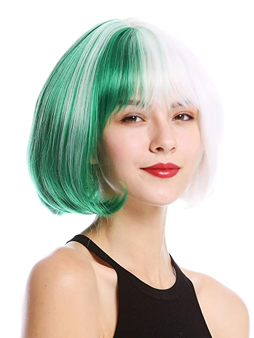 WIG ME UP ® - GFW2289 Peluca mujer cosplay calida corta peinado Bob/Longbob mitad