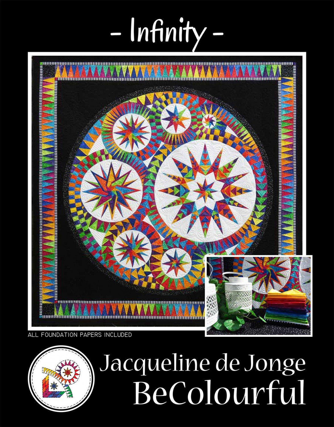 Infinity Quilt Pattern by Jacqueline de Jonge by BeColorful