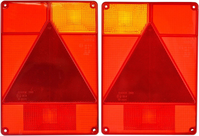 Paire de lentilles des feux de remorque IFOR WILLIAMS pour remplacement Radex Indespension TR196