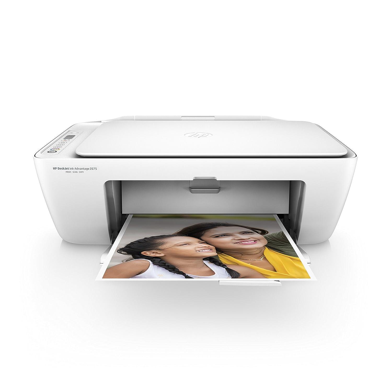 HP DeskJet 2675 All-in-One Ink Advantage Wireless Colour Printer (White):  Amazon.in: Computers & Accessories