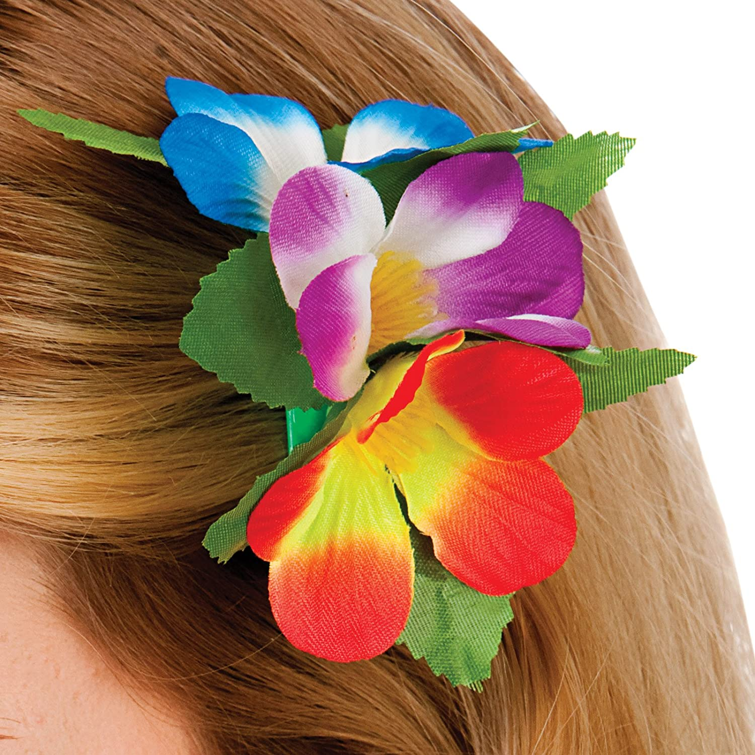 Hawaii Flower Hair Clip Multi Outfit Accessory For Tropical Fancy