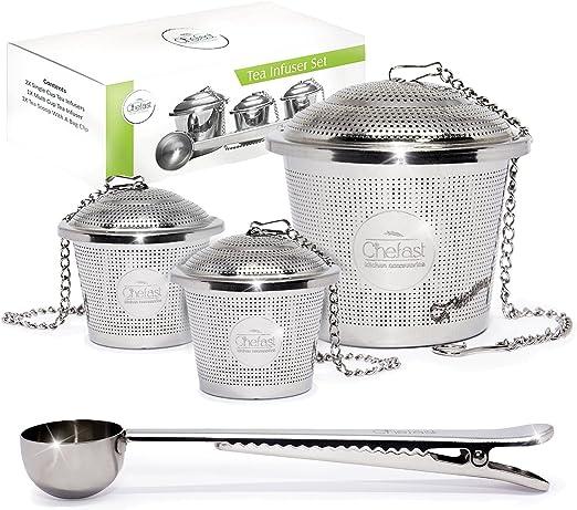 Stainless Steel Mesh Tea Infuser Metal Cup Strainer Loose Leaf Filter w// Li