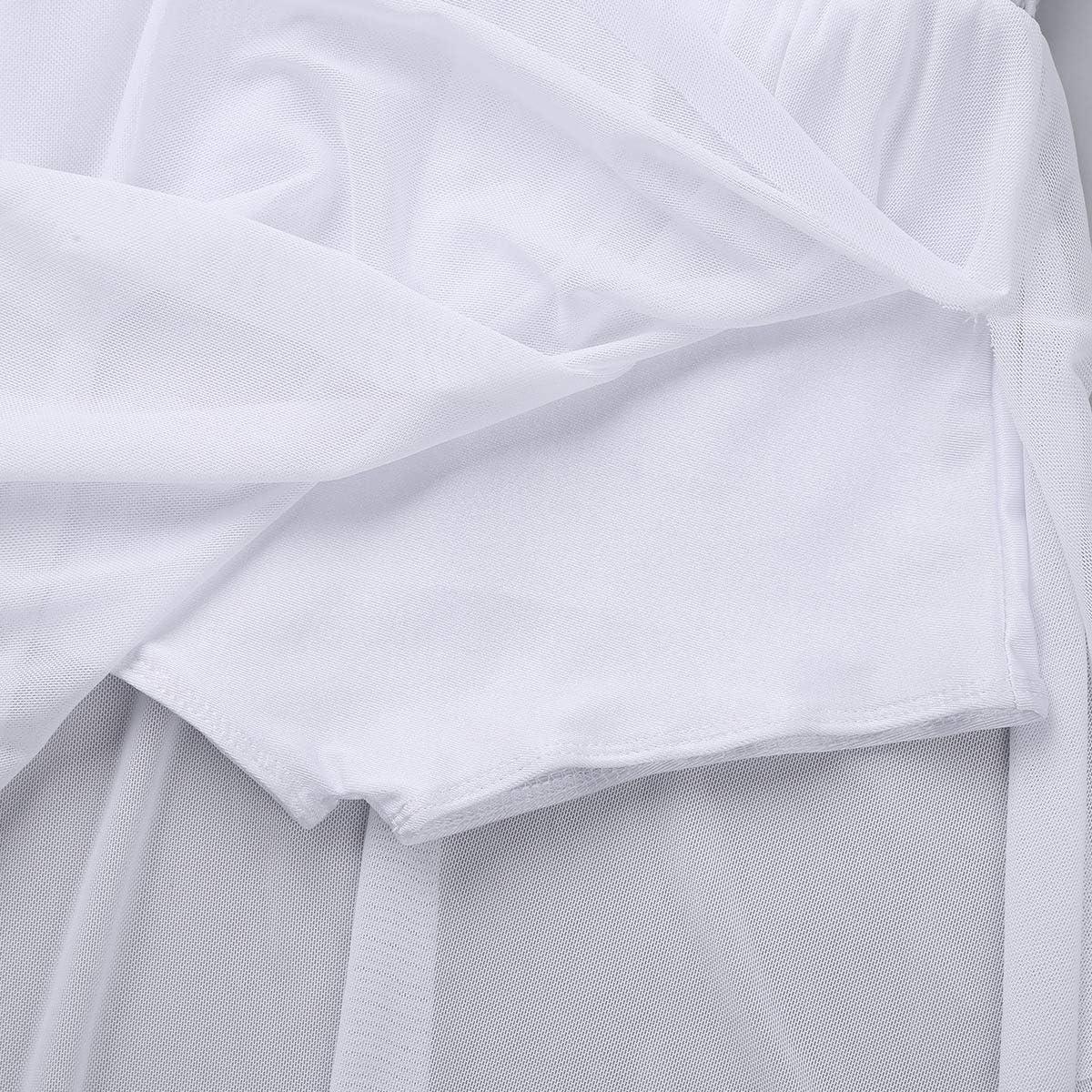 dPois Enfant Fille Justaucorps Ballet Danse Classique Asym/étrique Robe /à Paillettes Leotard Gymnastique Robe /à Bretelles Artistique Robe Patinage Body Costume Jazz 3-14 Ans