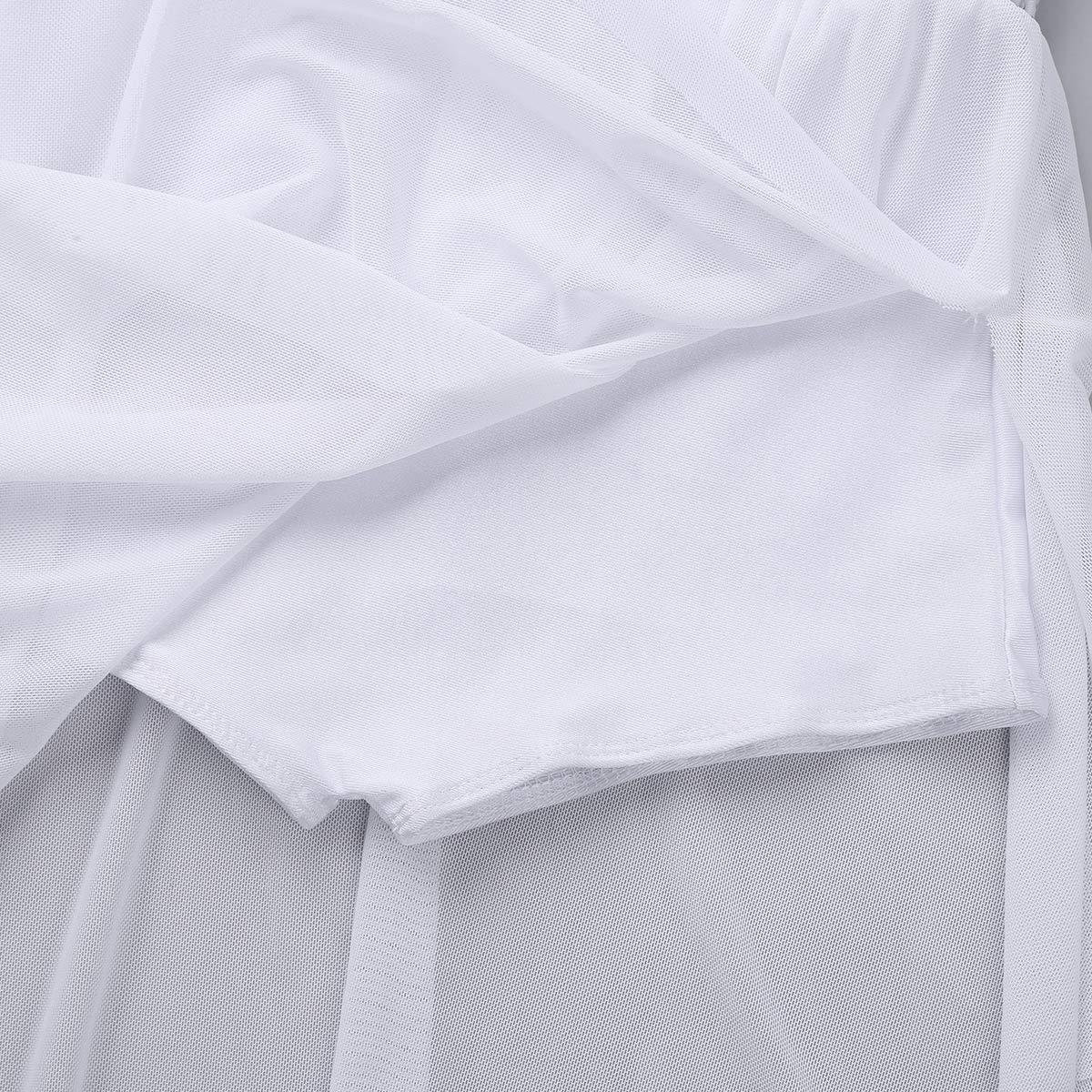inhzoy Maillot Vestido de Ballet Ni/ña Irregular Vestido de Danza Patinaje Art/ístico con Lentejuelas Leotardo de Gimnasia Ritmica Disfraz de Fiesta Actuaci/ón