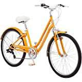 Schwinn Suburban Womens Classic Comfort Bike, 26-Inch Wheels, 7-Speed Drivetrain, 16-Inch Steel Frame, Alloy Linear Hand Brak