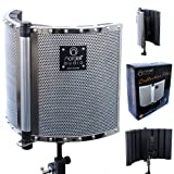 Microphone Reflection Filter/Shield/Screen Portable Foldable Vocal Booth by Nordell